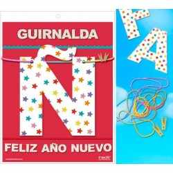 GUIRLANDE HAPPY NEW YEAR (Carte 220gr)