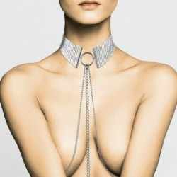 D SIR M TALLIQUE METALLIC MESH SILVER COLLAR