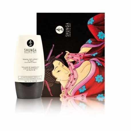 USE THE CREAM STIMULATING THE G-SPOT RAIN OF LOVE OF SHUNGA WILL TAKE YOU TO THE CLIMAX MORE INTENSE