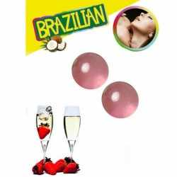SECRETPLAY 2 STRAWBERRY AND CHAMPAGNE BRAZILIAN BALLS SET