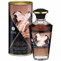 SHUNGA Massage Oil warmte-effect intense smaak chocolade 100 ml