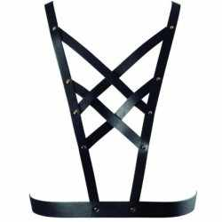 BIJOUX INDISCRETS MAZE CROSS CLEAVAGE HARNESS BLACK