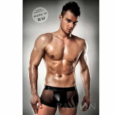 Lingerie PASSION 003 MEN BLACK LEATHER CLEAR S/M