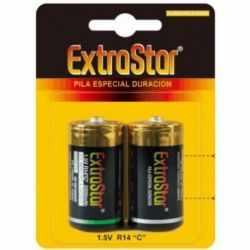 EXTRASTAR LONG LASTING BATTERIES 1.5 V R14 C