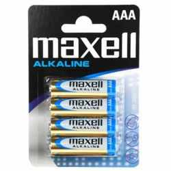 MAXELL BATTERY AAA alkaline battery lr03*4 EU BLISTER