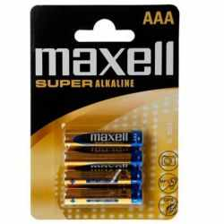 MAXELL SUPER ALKALINE BATTERY AAA LR03 BLISTER*4