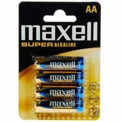 MAXELL SUPER ALKALINE BATTERY AA LR6 BLISTER*4
