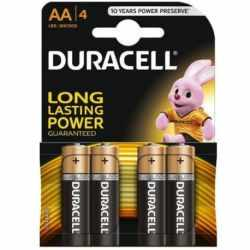 BASIC DURACELL AA Alkaline battery LR6 BLISTER*4