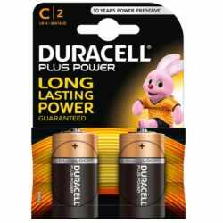 DURACELL PLUS POWER alkaline battery lr14 C*2 blister