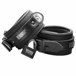 TOM OF FINLAND neoprene ankle cuffs with padlock