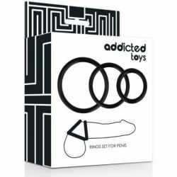 ADDICTED TOYS SET BLACK PENIS rings