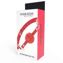 GET NAUGHTY WITH THIS RED DARKNESS BREATHABLE GAG