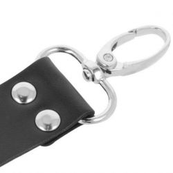 INMOBILIZA YOUR PARTNER WITH DARKNESS LEATHER HANDCUFFS FOR FEET AND HANDS BLACK