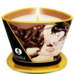 MINI STRELEN DOOR CANDELIGHT SHUNGA MASSAGE KAARS CHOCOLADE 170ML