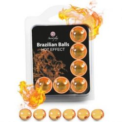SET 6 SECRETPLAY BRAZILIAN BALLS HEAT EFFECT