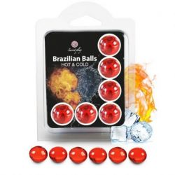 SET 6 SECRETPLAY BRAZILIAN BALLS COLD EFFECT AND HEAT