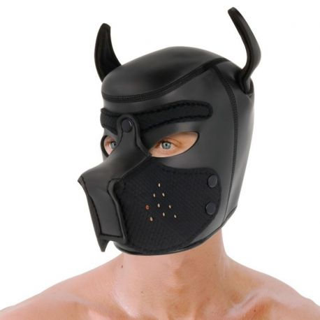 DARKNESS NEOPRENE DOG MASK WITH REMOVABLE MUZZLE L