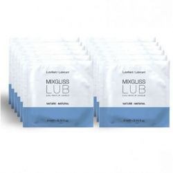 MIXGLISS NATURAL WATER BASED LUBRICANT 12 SINGLE DOSE 4ML