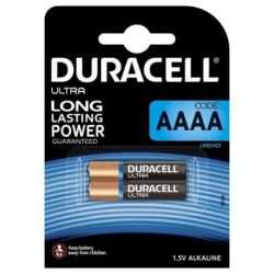 DURACELL ULTRA POWER ALKALINE BATTERIE AAAA MX2500 1,5V BLISTER * 2