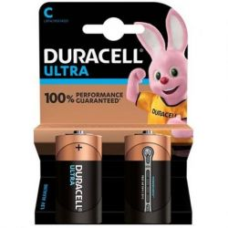 DURACELL ULTRA POWER ALKALINE BATTERIE C LR14 BLISTER * 2