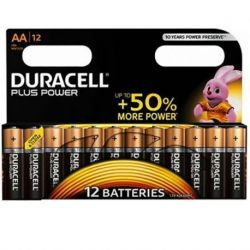 DURACELL PLUS POWER ALKALINE BATTERIE AA LR6 BLISTER * 12