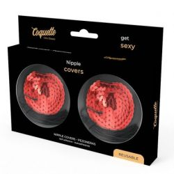 COQUETTE CHIC DESIRE NIPPLE COVERS ROUGE