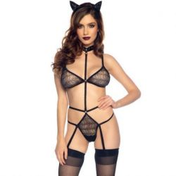 LEG AVENUE SET BODY WITH EARS AND TAIL ONE SIZE