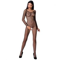 PASSION WOMAN BS068 BLACK BODYSTOCKING ONE SIZE